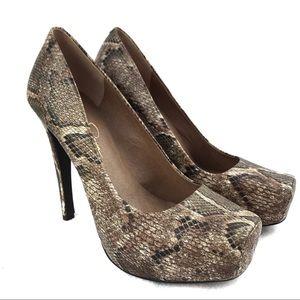 Jessica Simpson Women's Faux Snake Platform Heels